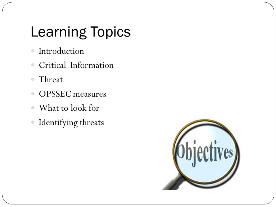 Operational Security PCC VII-F ppt download