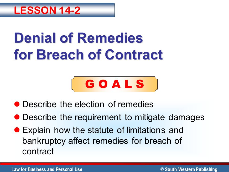 Remedies for Breach of Contract - ppt video online download - contract breaches remedies