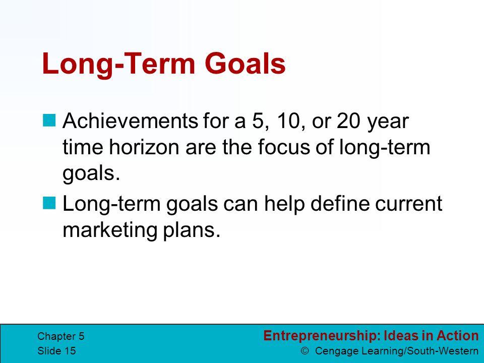 Business Plan Long Term Goals Examples