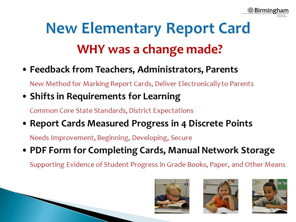 New Elementary Report Card A Transition to Standards-Based Grading - report card
