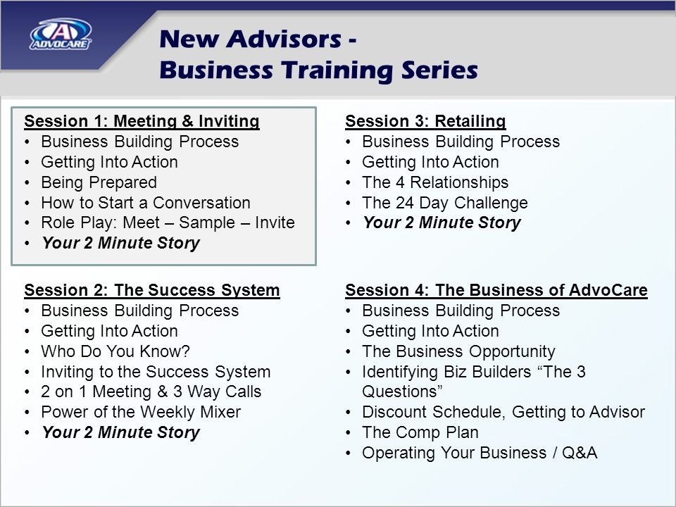 New Advisors - Business Training Series - ppt download - business meet and greet invitation wording