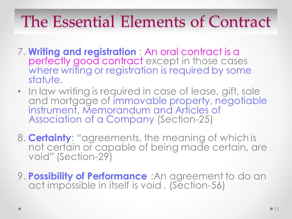 Valid Contract Essential Elements Essential Elements Of A Valid - contract important elements