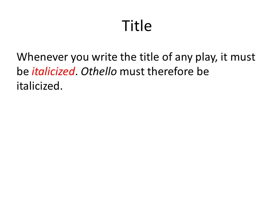 How to Properly Quote Shakespeare - ppt video online download - how to write a title