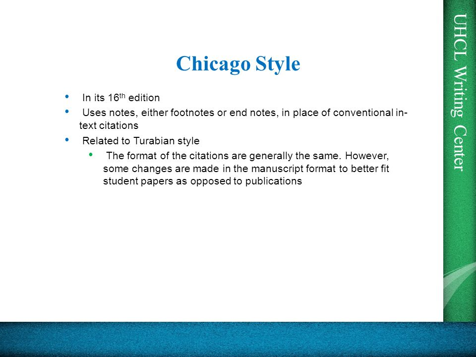 In text citation examples chicago style - Writing A Descriptive