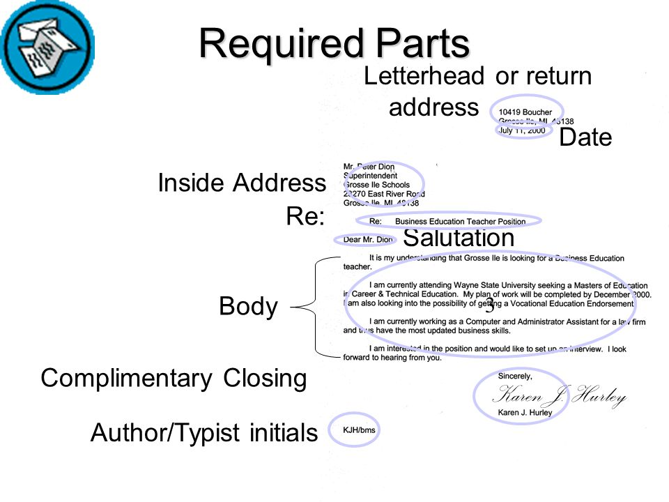 PARTS OF A BUSINESS LETTERS - ppt video online download - parts of a business letter