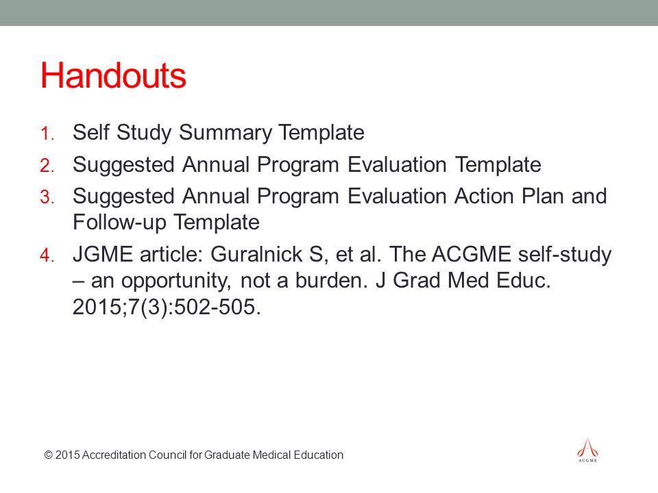 Program Summary Template