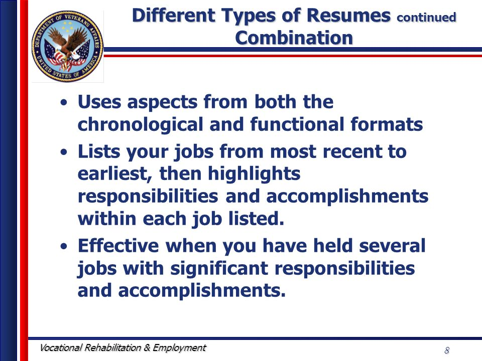 forms of resumes