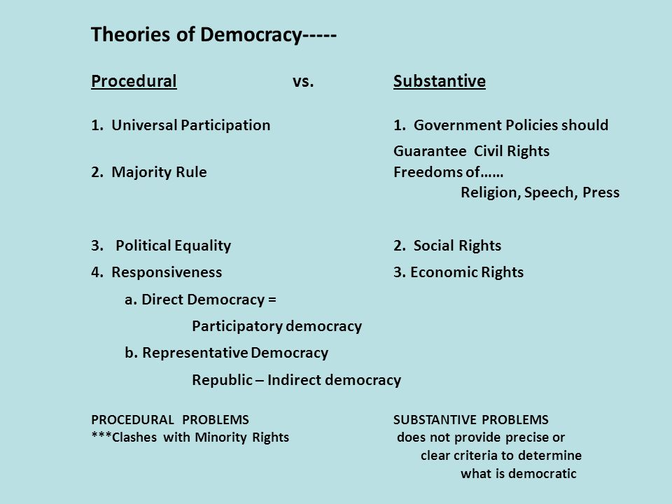 Theory of Democratic Government - ppt download
