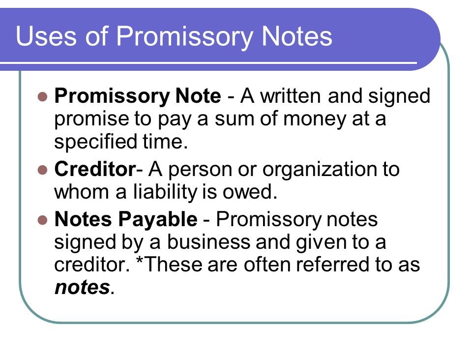 organization promissory note - deodeatts - promissory notes