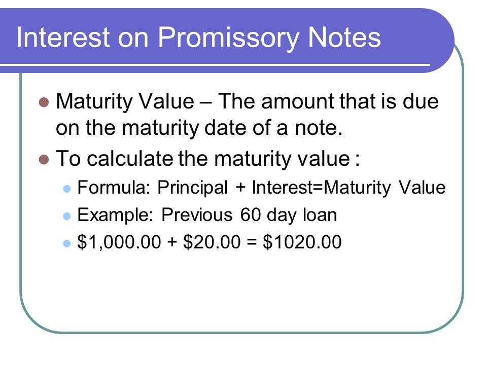 promissory note calculator - Josemulinohouse