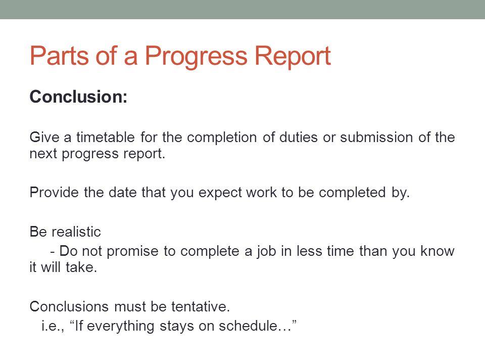 Assignment 8 information - ppt download - job progress report