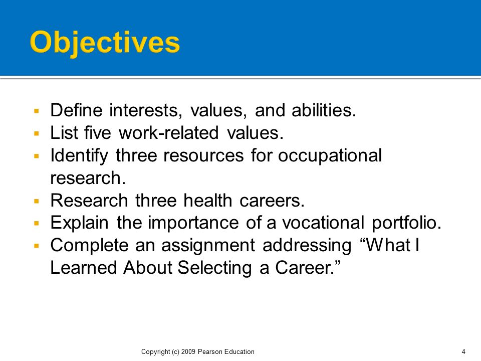 Finding the Right Occupation for Your - ppt download - avocational interests