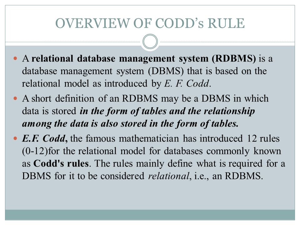 what is relational database management systems - Roho4senses