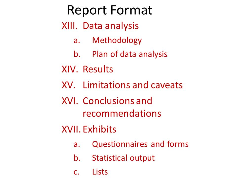 UNIT 4-C DATA ANALYSIS and REPORTING - ppt download - analysis report format