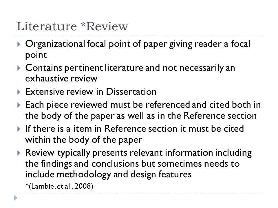 apa sample literature review