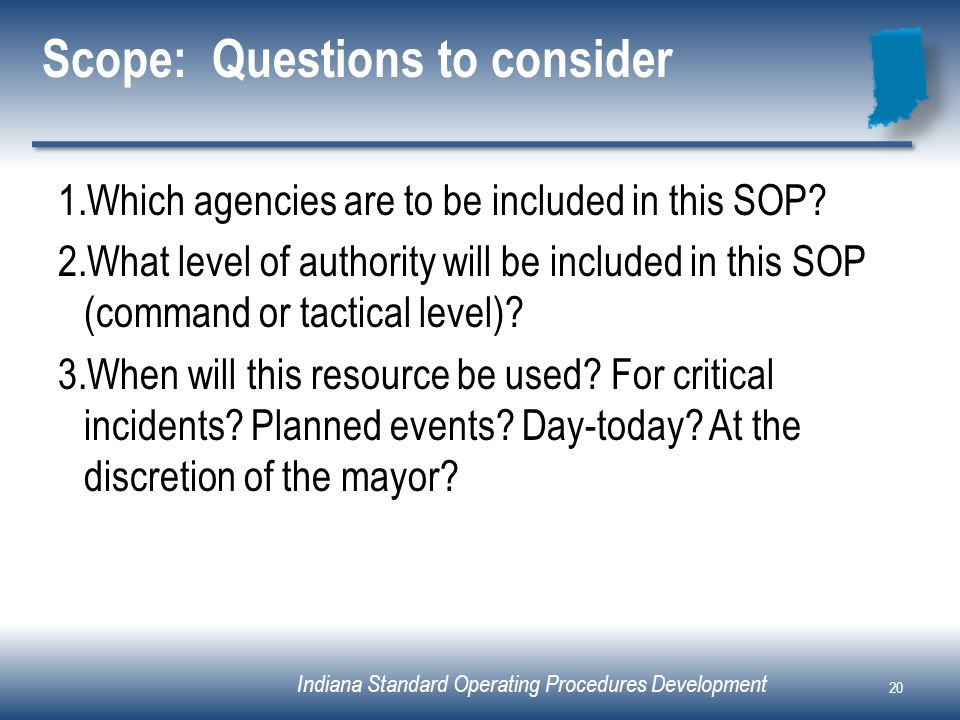 Why Sop Is Used Why Sop Is Used Standard Operating Procedure For