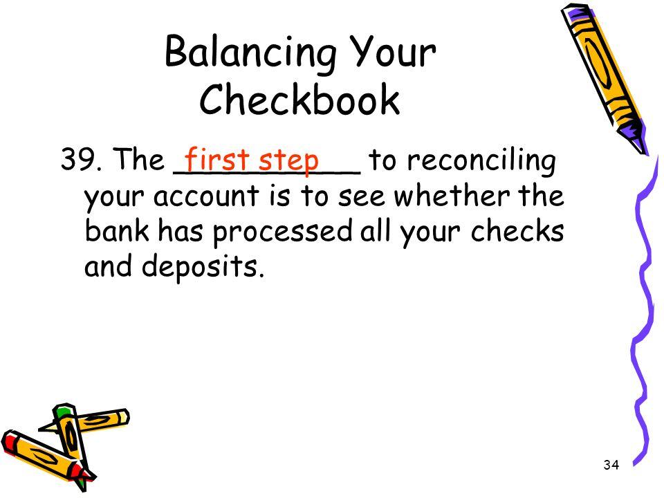 balancing checkbook online