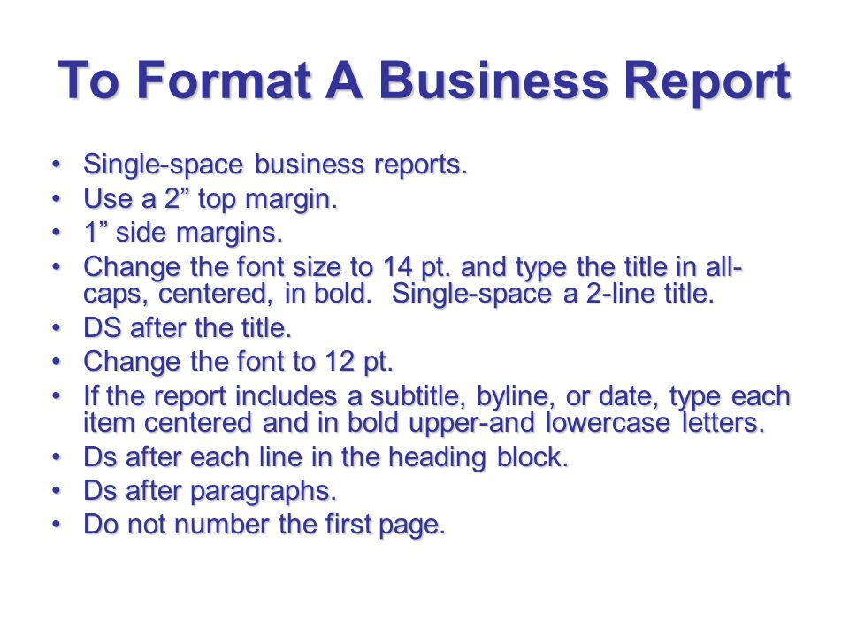 business tour report format – Business Reports Format