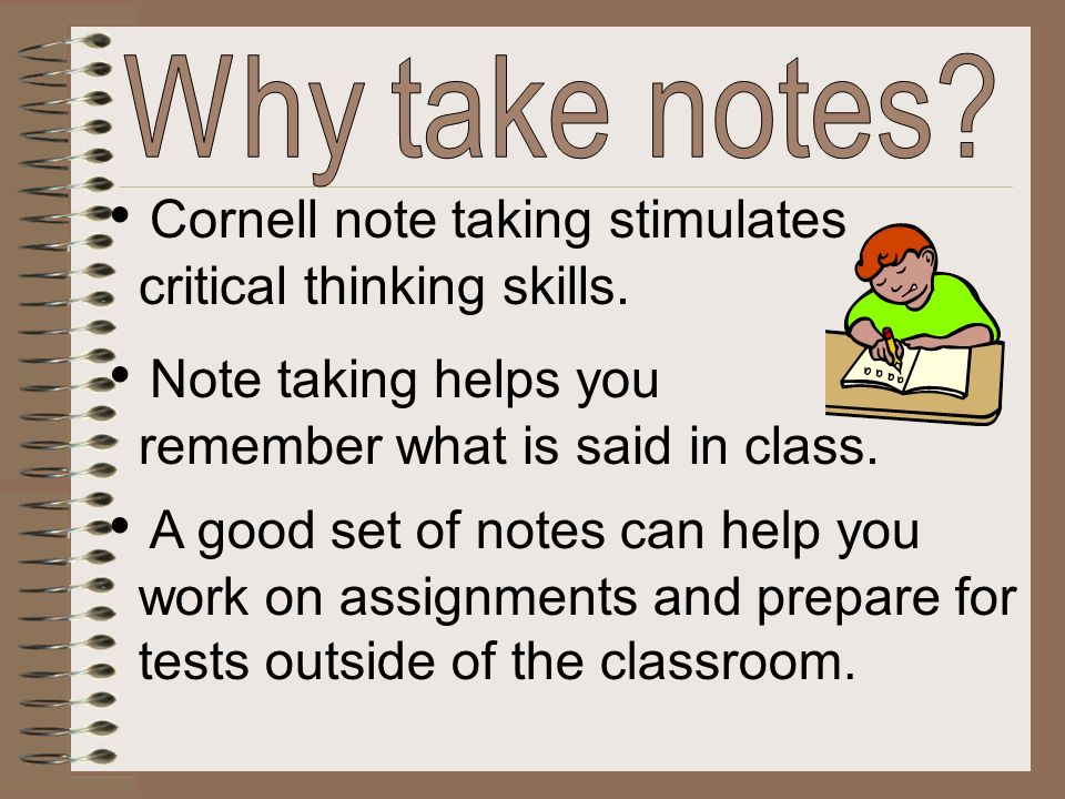 Cornell Notes - ppt video online download - cornell note