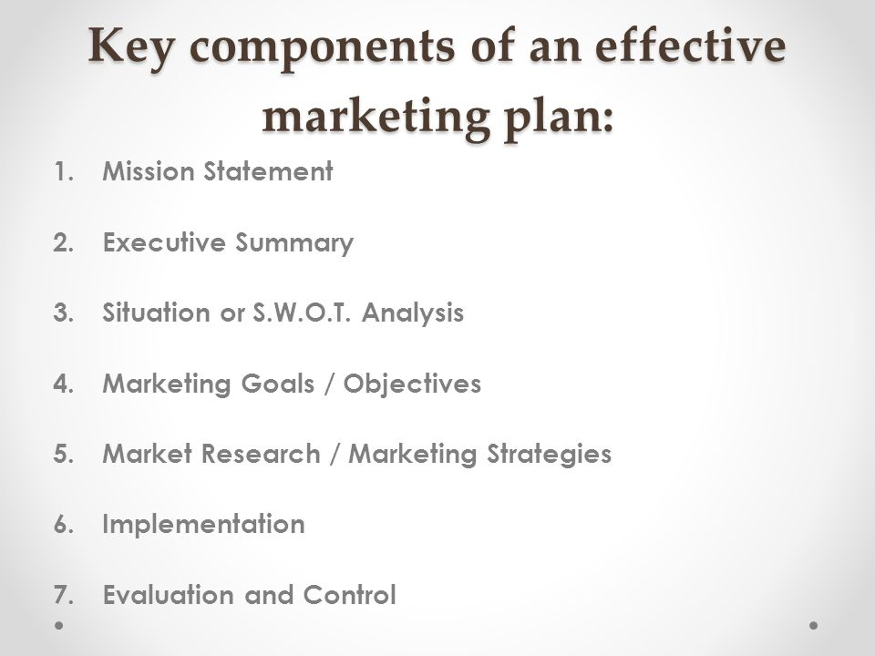 Name 5 components of a business plan - abriselegal - components marketing plan