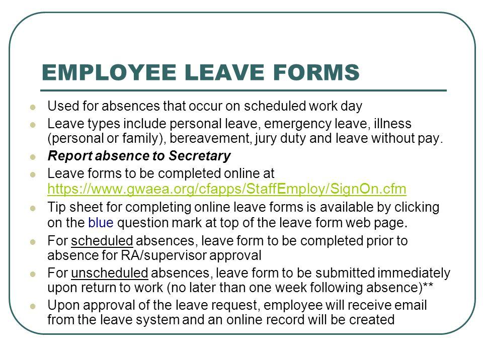 Format Of Leave Form medical leave form leave application form – Leave Application Format for Employee