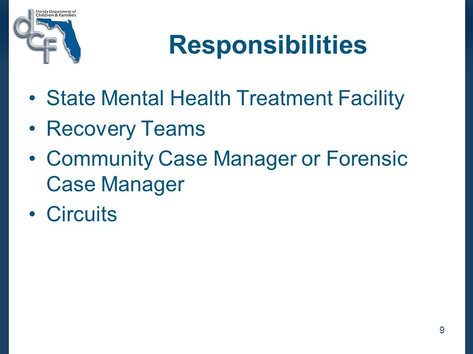 9 responsibilities state mental health treatment facility recovery - forensic case manager sample resume
