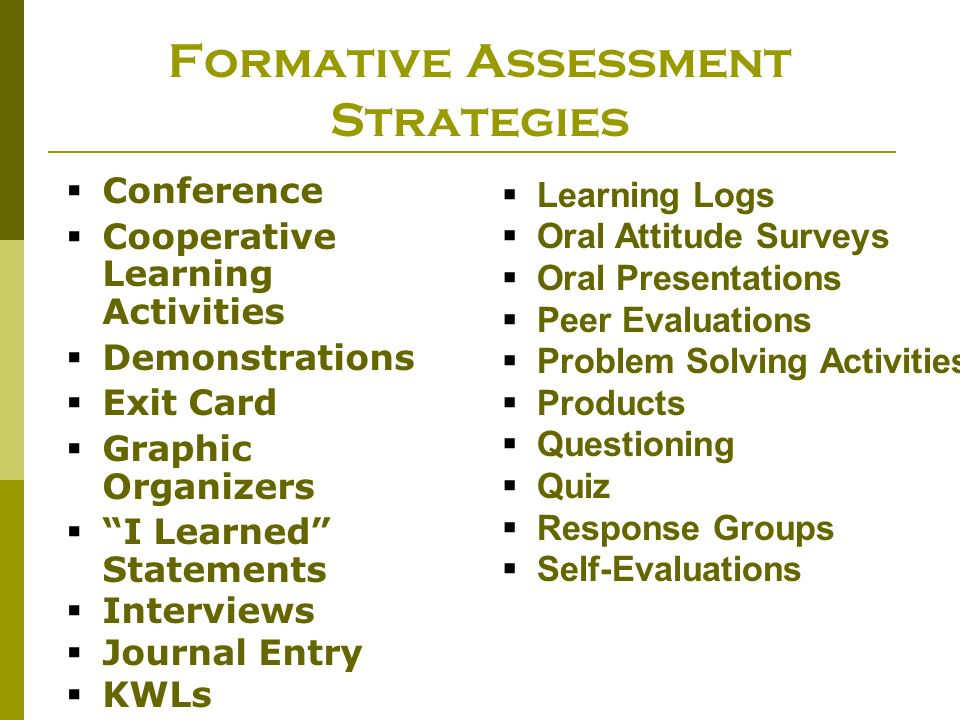 Formative Assessment Strategies learning in the cloud thoughts on - formative assessment strategies