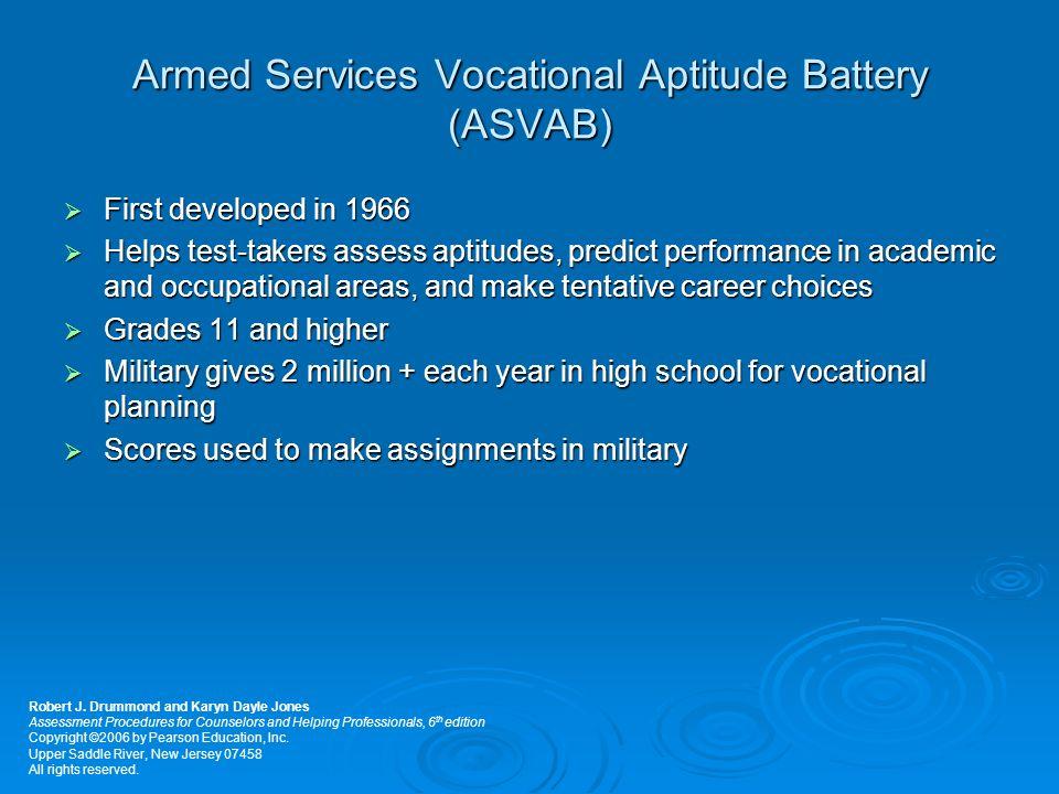 vocational aptitude test - Alannoscrapleftbehind