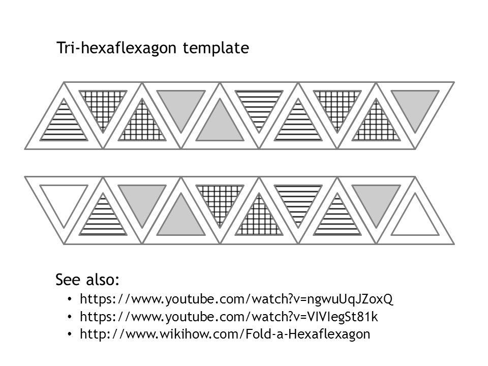 Old Fashioned Hexaflexagon Template Pattern - Professional Resume - hexaflexagon template