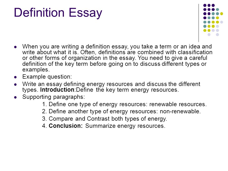 Write definition essay success Homework Writing Service