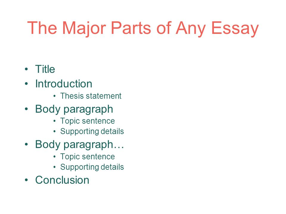 Parts of a good problem-solving essay College paper Sample - March