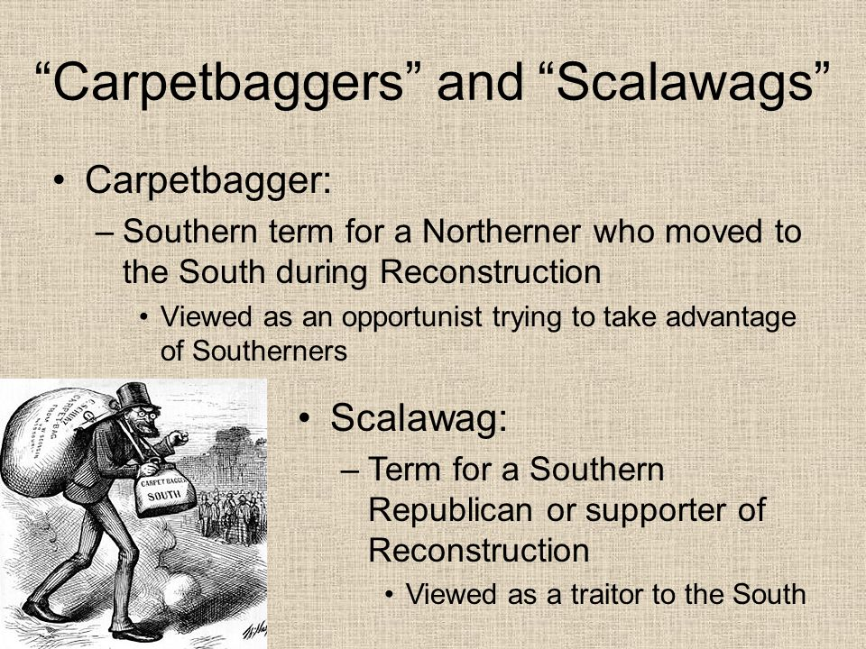 Modern Day Carpetbaggers Opinion Conservative