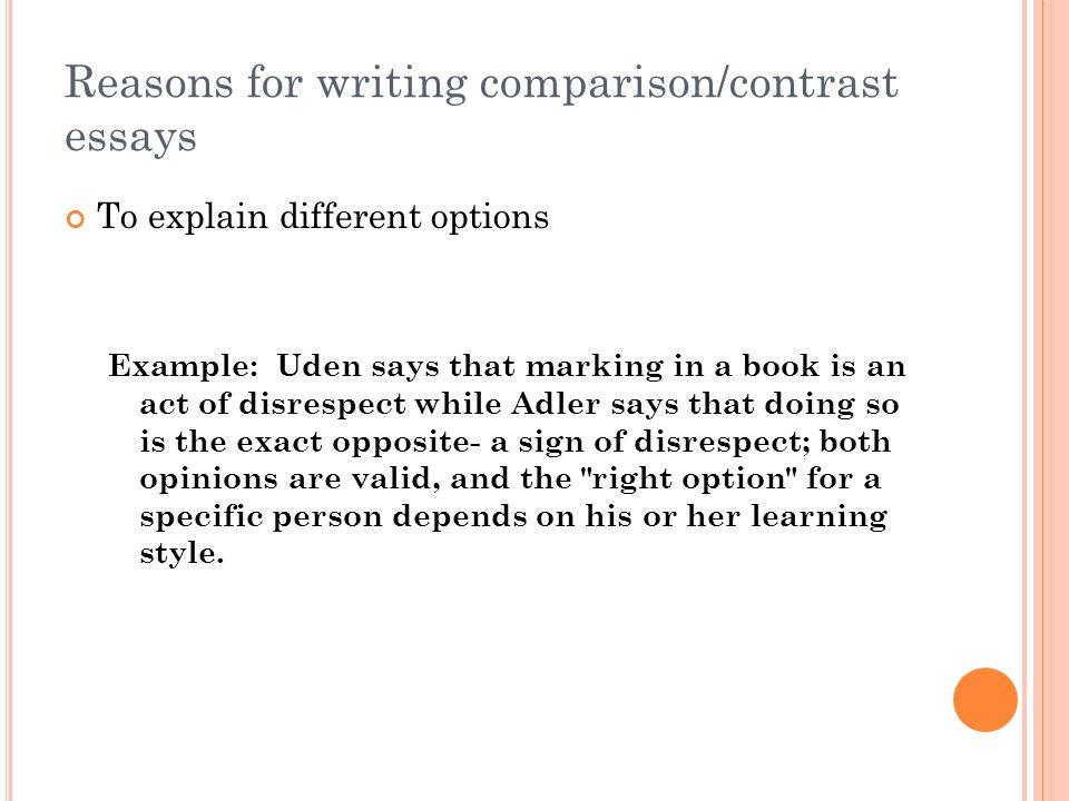 writing comparison essays writing a comparison contrast essay