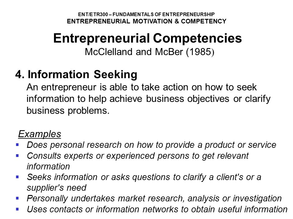 ENTREPRENEURIAL MOTIVATION AND COMPETENCIES - ppt video online download - entrepreneur examples