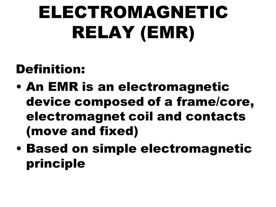 electromagnetic relay logic