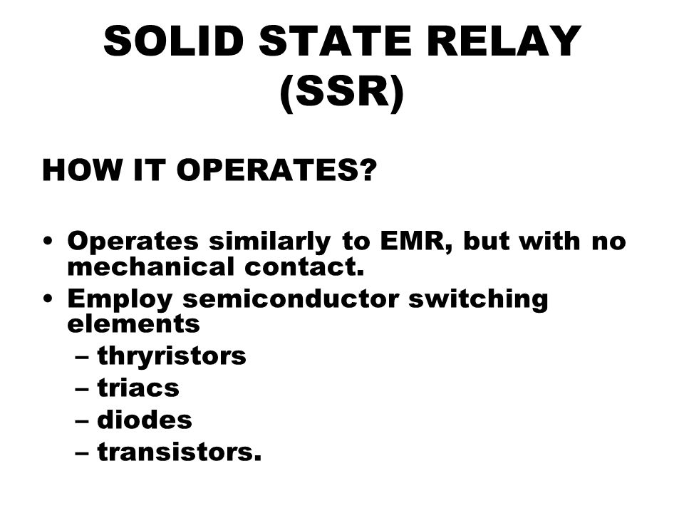 ssr relay normally open