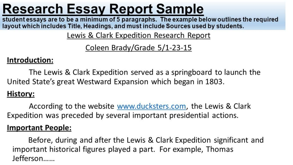 Research Report Examples For Students  E Library