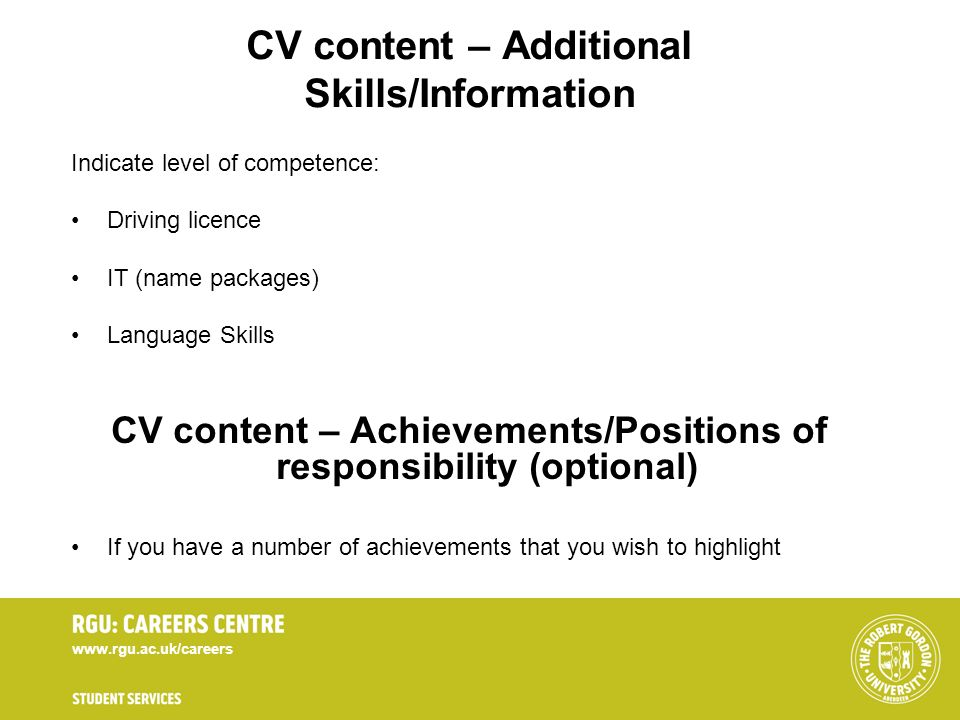 competence leadership cv