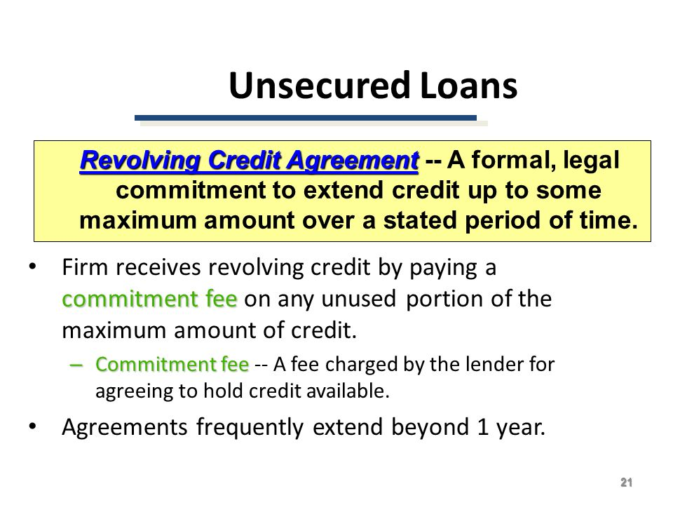 Credit Agreements Ad Hoc Loan Agreements In Terms Of The Nca