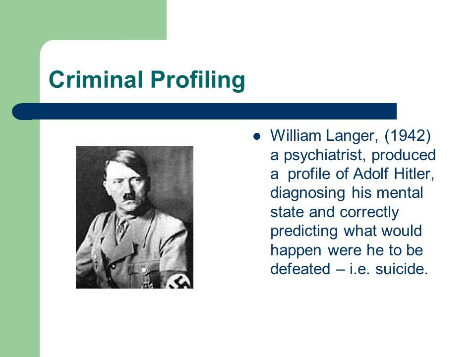 Offender Profiling Are we all Crackers? - ppt video online download