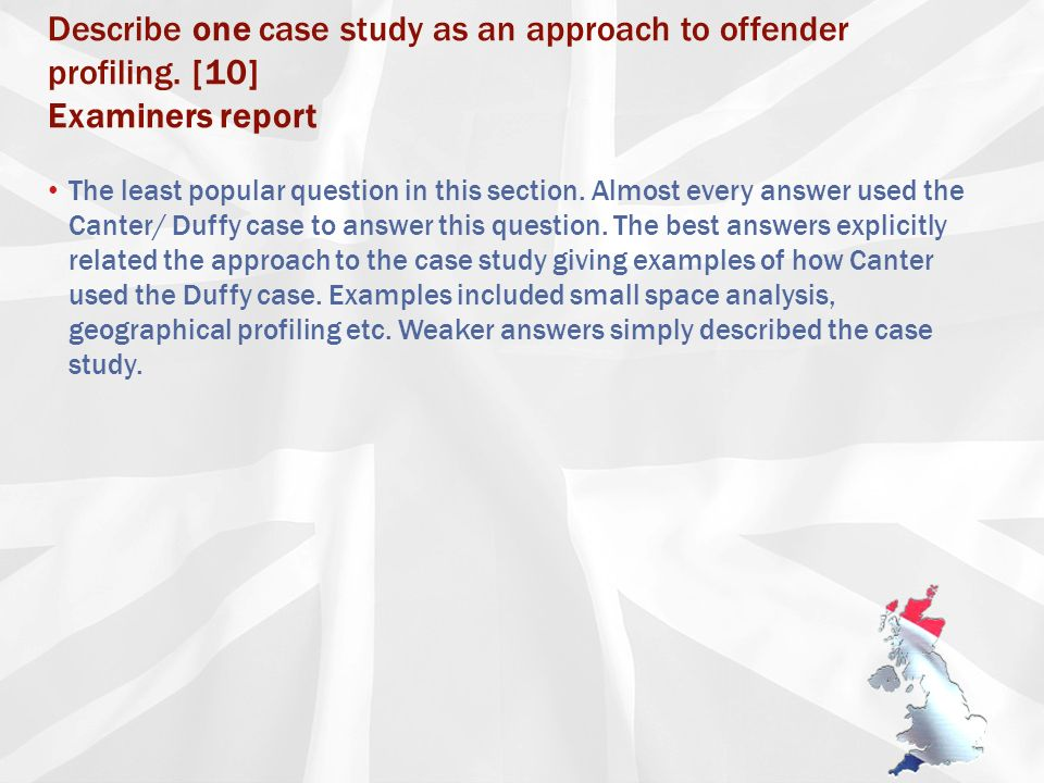 examples of criminal profiling essay on lise meitner thesis business