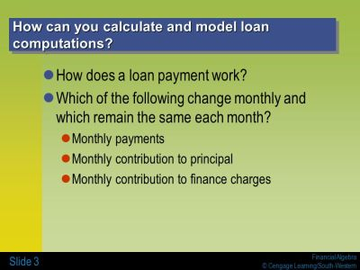 4-3 LOAN CALCULATIONS AND REGRESSION - ppt download