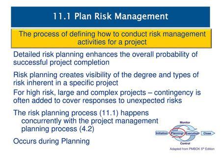 Chapter 16 Risk Management Planning - ppt video online download - risk plan