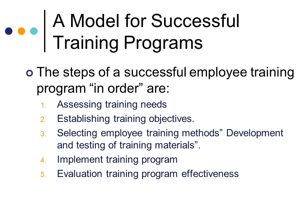 CHAPTER 6 Employee Training and Development - ppt video online download - Effective Employee Evaluation Steps