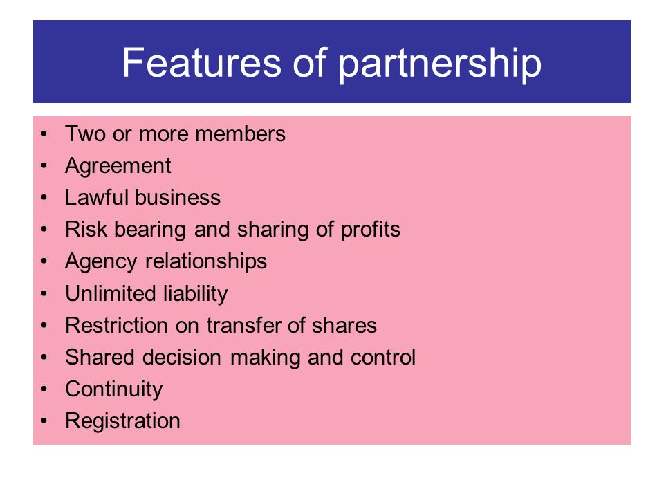 Partnership Agreement Between Two Individuals