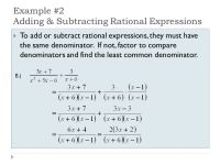Printable Worksheets  Rational Expressions Worksheets ...