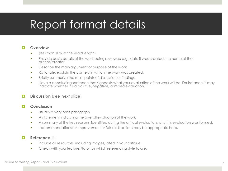 Writing reports and evaluations - ppt video online download
