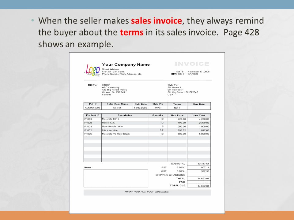 Chapter 10 Accounting for Merchandising Operations - ppt download - when invoice is generated