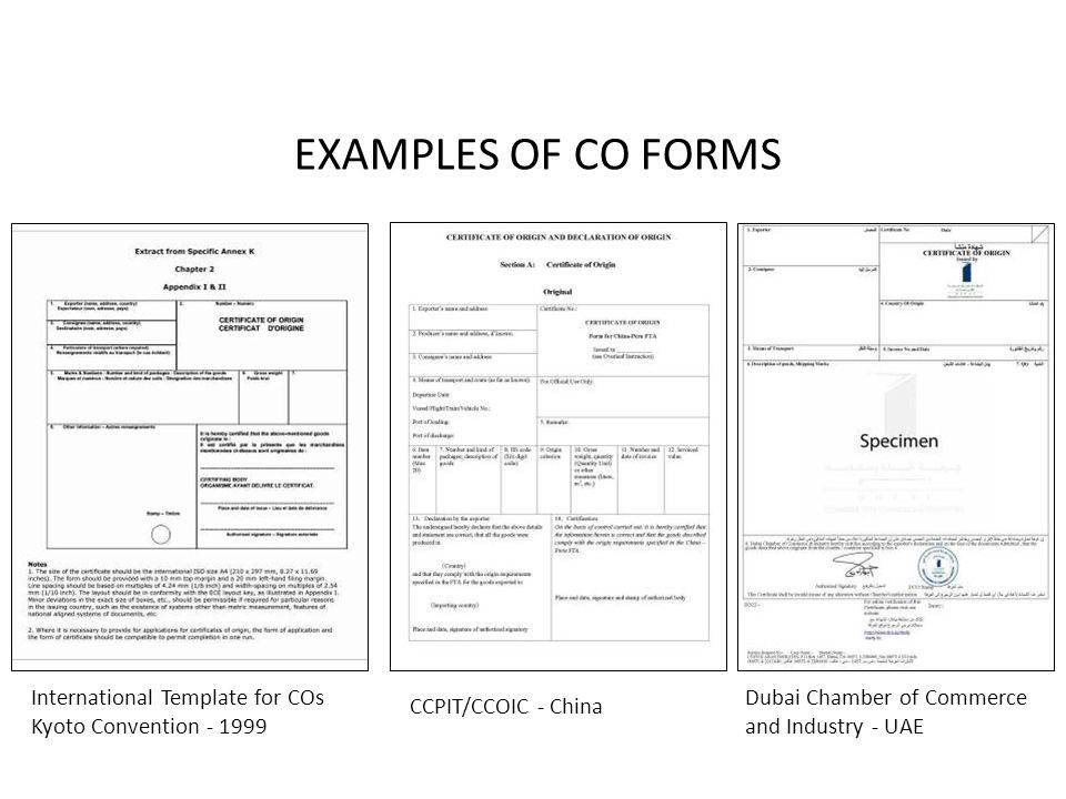 Chapter 4 CARGO DOCUMENTS - ppt video online download - Certificate Of Origin Forms