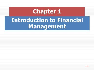 Introduction to Financial Management - ppt video online download